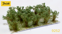 High bushes - micro leaves - Green willow 15pcs